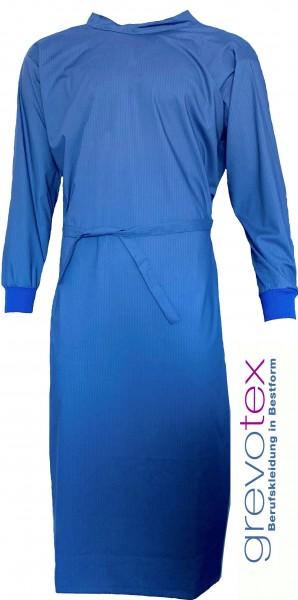 Wickelmantel 65% Polyester/35% Baumwolle blau/ gestreift