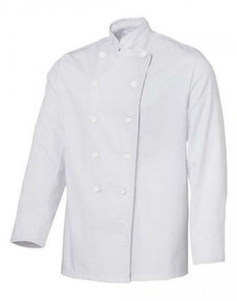 Kochjacke Bäckerjacke weiß langarm