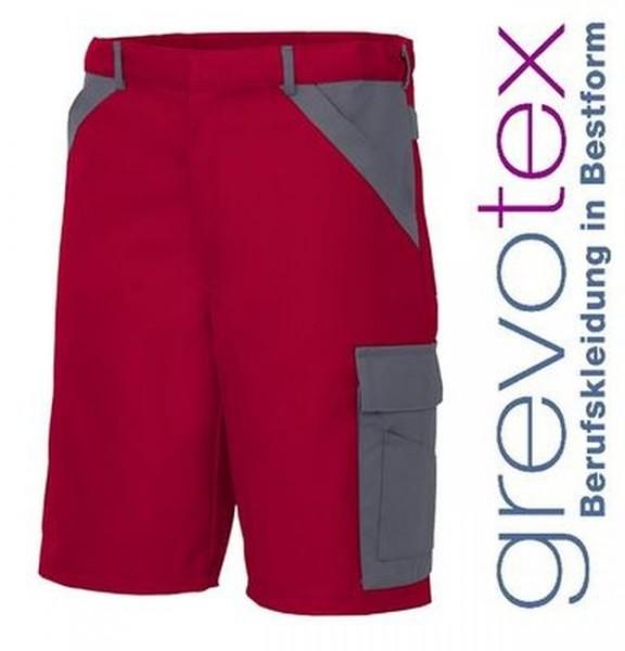 Bermuda Short Arbeitshose Berufshose Herren rot grau