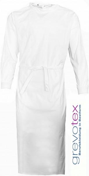OP-Mantel 65% Polyester/35% Baumwolle mit Druckknöpfen weiß