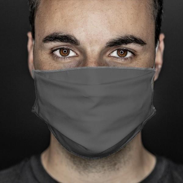 Mund- und Nasenabdeckung grau