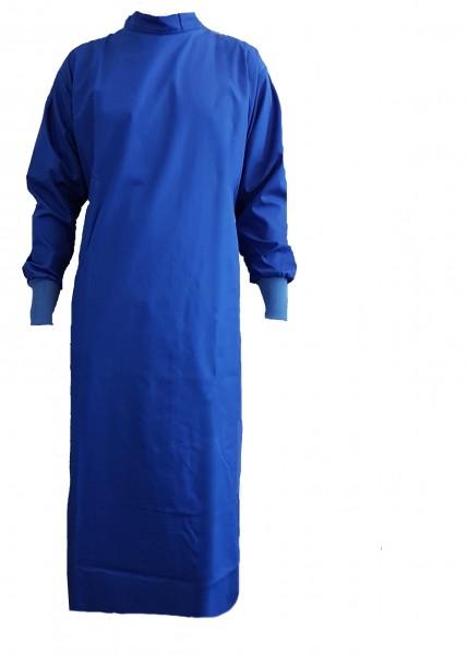 Wickelmantel mit Druckknöpfen 65% Polyester/35% Baumwolle blau