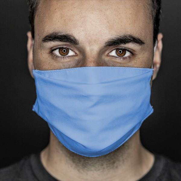 Mund- und Nasenabdeckung blau