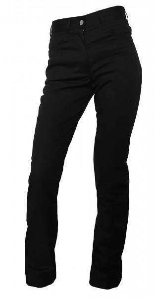 Damen Kochhose Kellnerhose Jeans Stretch schwarz