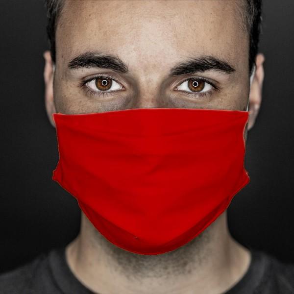 Mund- und Nasenabdeckung rot