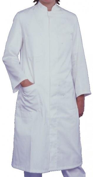 Damen Arztmantel Labormantel langarm RITA Stehkragen weiß 100% Baumwolle