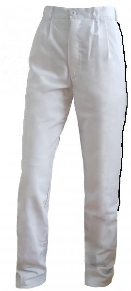 Damen Arzthose Laborhose MARTINA 50%Baumwolle / 50% Polyester weiß