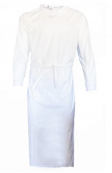 Wickelmantel 65% Polyester/35% Baumwolle mit Druckknöpfen weiß