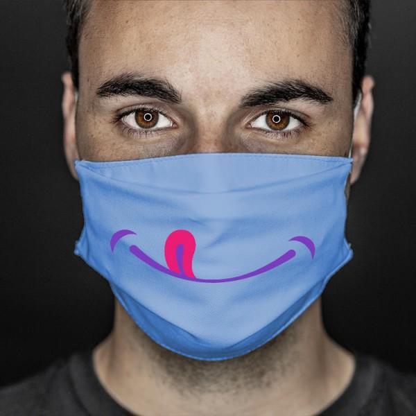 Mund- und Nasenabdeckung blau cheeky