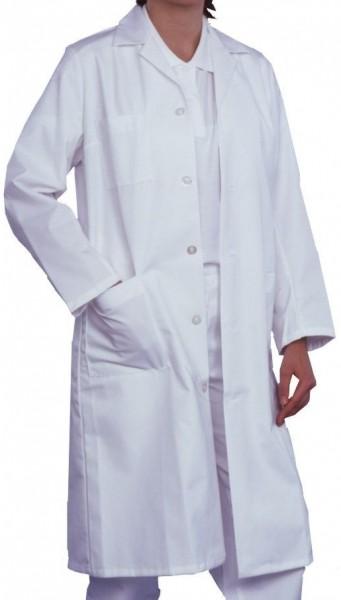 Damen Arztmantel Labormantel langarm REGINA Reverskragen 100% Baumwolle
