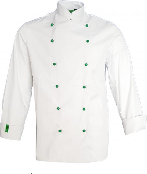 Kochjacke Bäckerjacke langarm weiß aus ökologischen Fasern