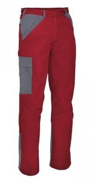 Herren Bundhose mit Knietaschen Arbeitshose Rot Grau