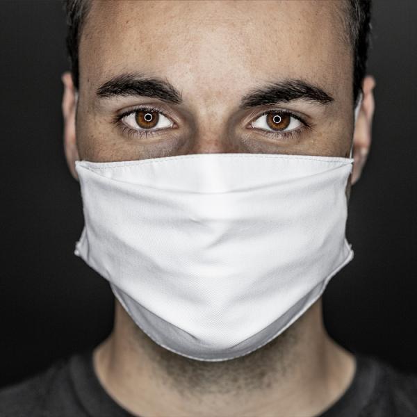 Mund- und Nasenabdeckung weiß