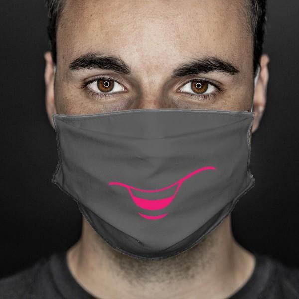 Mund- und Nasenabdeckung grau smile