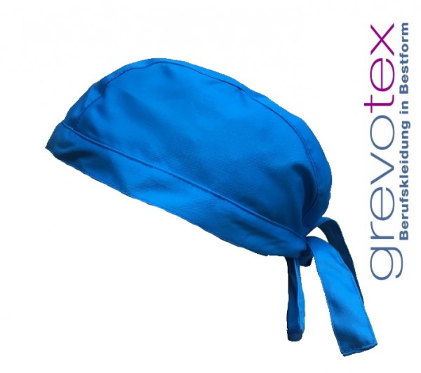 Arzt-Haube, Stoffhaube Mütze Kopfbedeckung Arztpraxis hellblau