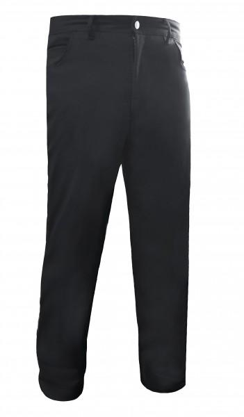 Herren Kochhose Kellnerhose Jeans Stretch schwarz