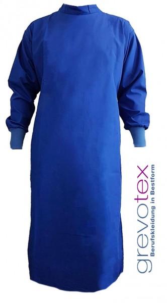 OP-Mantel 65% Polyester/35% Baumwolle mit Druckknöpfen blau