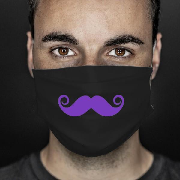 Mund- und Nasenabdeckung schwarz Bart
