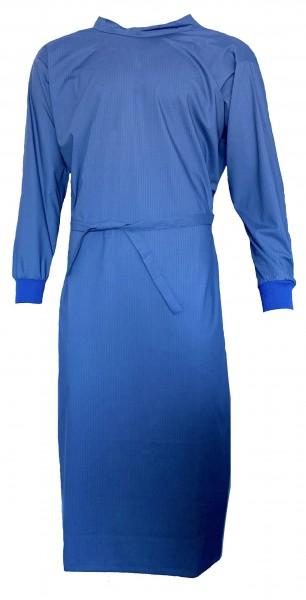 Wickelmantel 65% Polyester/35% Baumwolle mit Druckknöpfen blau/gestreift