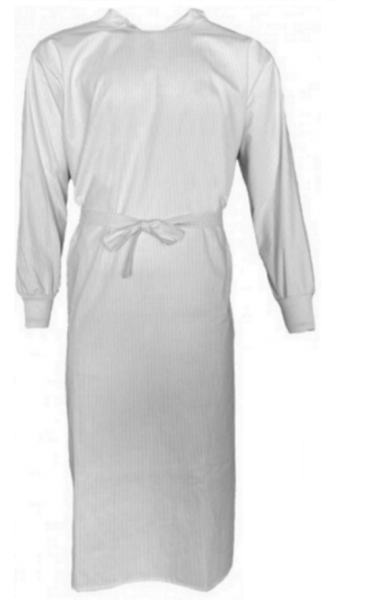Wickelmantel 65% Polyester / 35% Baumwolle weiß/grau