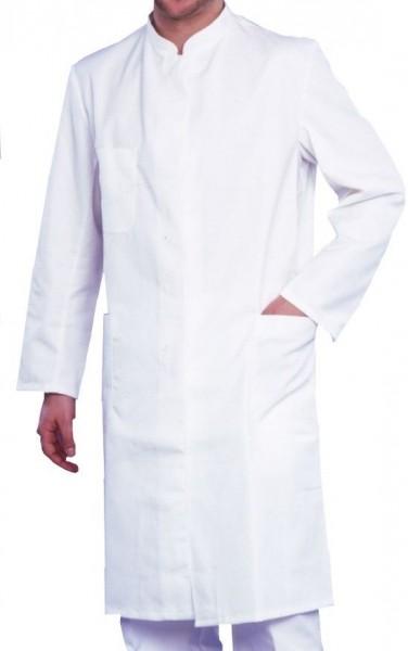 Herren Arztmantel Labormantel langarm SEVERIN Stehkragen 50% Baumwolle/50% Polyester Satin