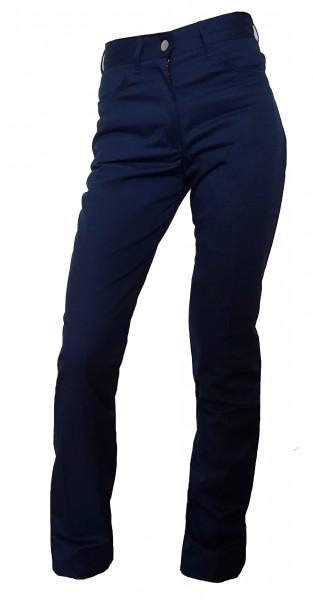 Damen Kellnerhose Kochhose Jeans Stretch marine