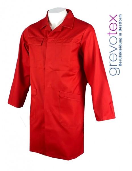 Herren Arbeitsmantel Berufsmantel rot