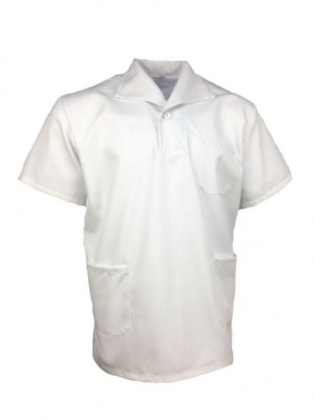 Pflegerhemd Schlupfhemd Spülerhemd Kasack Unisex weiß