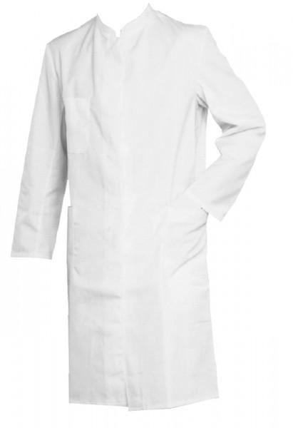 Herren Arztmantel Laborkittel Stehkragen