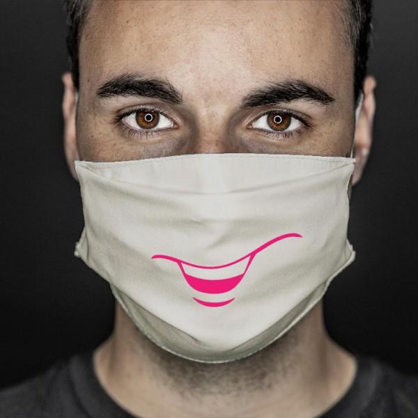 Mund- und Nasenabdeckung sand smile