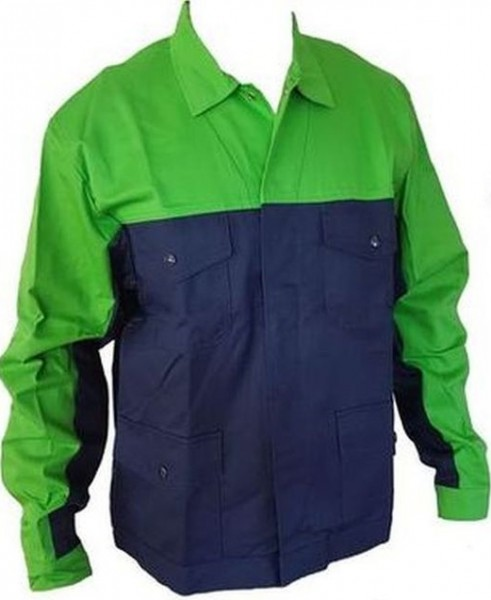 Herren Berufsjacke Arbeitsjacke apfelgrün marine