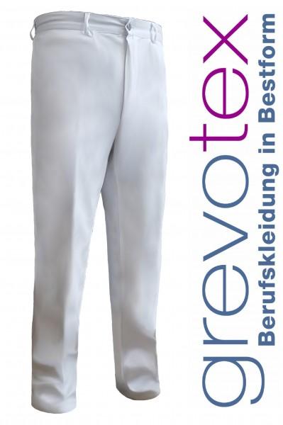 Herren Arzthose Laborhose 2+1 Taschen 100% Baumwolle weiß