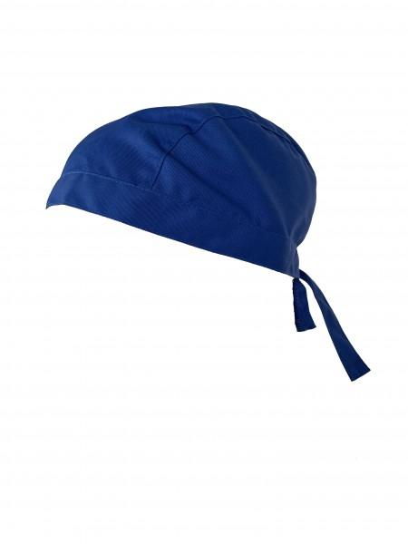 Stoffhaube Mütze Kopfbedeckung Arzt-Haube für Arztpraxis blau