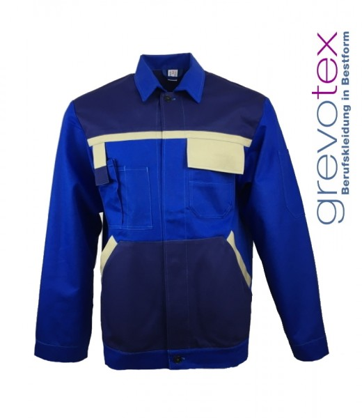 Herren Bundjacke Arbeitsjacke Berufsjacke blau 100% Baumwolle